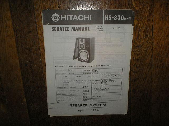 HS-330 MK II 2 Speaker System Service Manual