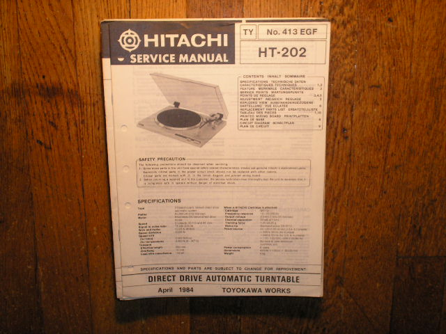 HT-202 Direct Drive Turntable Service Manual