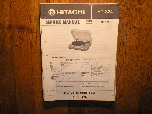 HT-324 Belt Drive Turntable Service Manual  Hitachi Turntables