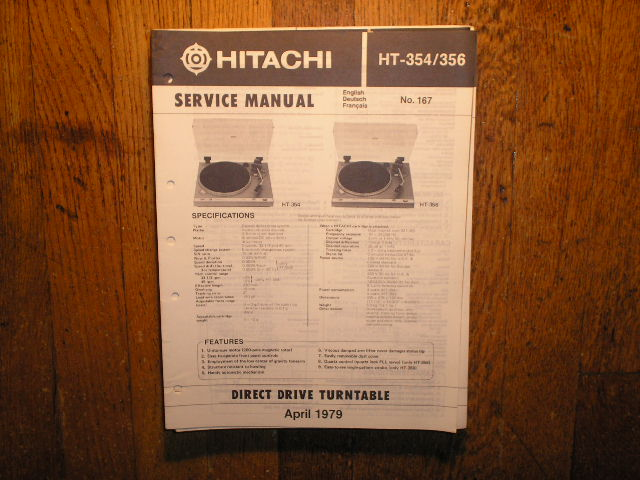 Hitachi HT-354 HT-356 Turntable Service Manual..