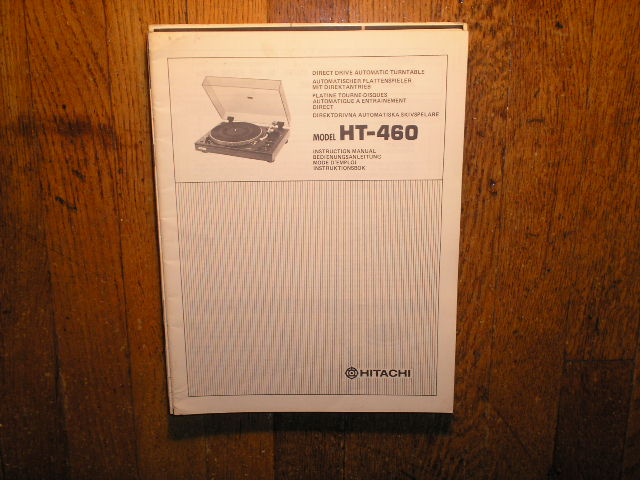 HT-460 Direct Drive Turntable Instruction Manual  Hitachi Turntables
