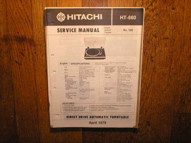 HT-660 Direct Drive Turntable Service Manual  Hitachi Turntables