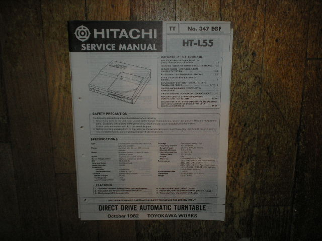 HT-L55 Direct Drive Turntable Service Manual  Hitachi Turntables