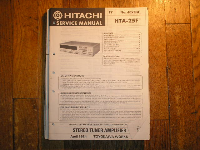 HTA-25F Stereo Tuner Amplifier Service Manual