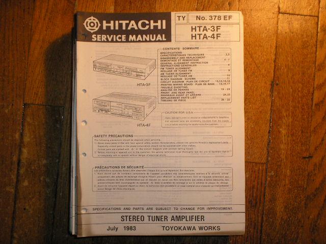 HTA-3F HTA-4F Stereo Tuner Amplifier Service Manual