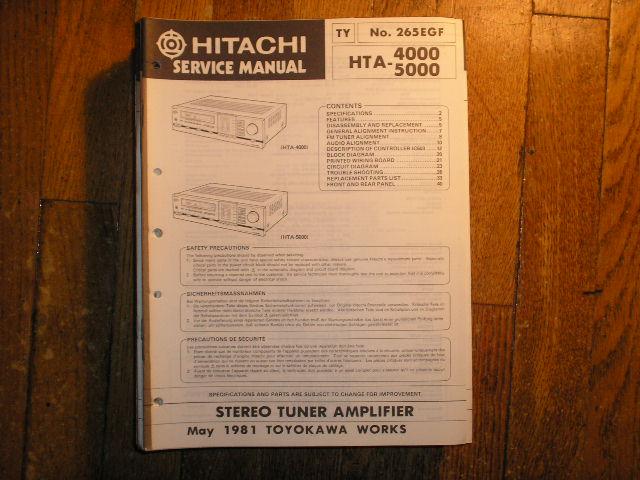 HTA-4000 HTA-5000 Stereo Tuner Amplifier Service Manual