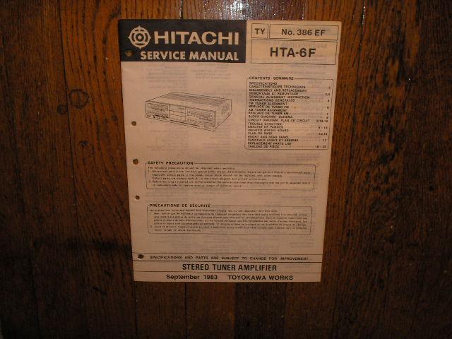 HTA-6F Stereo Tuner Amplifier Service Manual