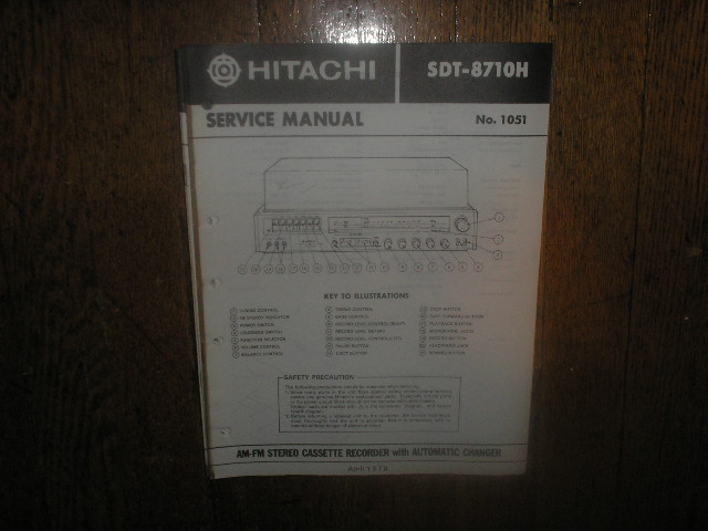 SDT-8710H  Stereo System Service Manual