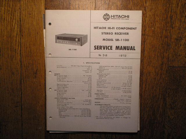 SR-1100 Receiver Service Manual