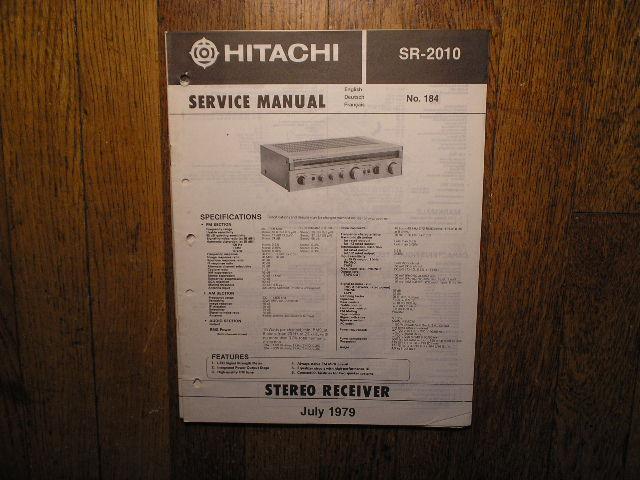 SR-2010 Receiver Service Manual