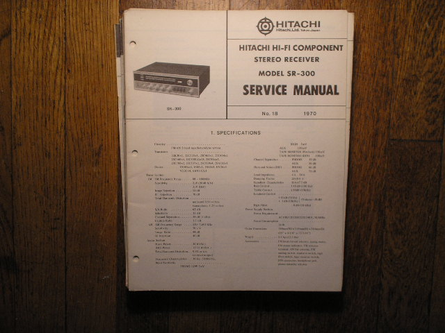 SR-300 Stereo Receiver Service Manual  Hitachi Receivers