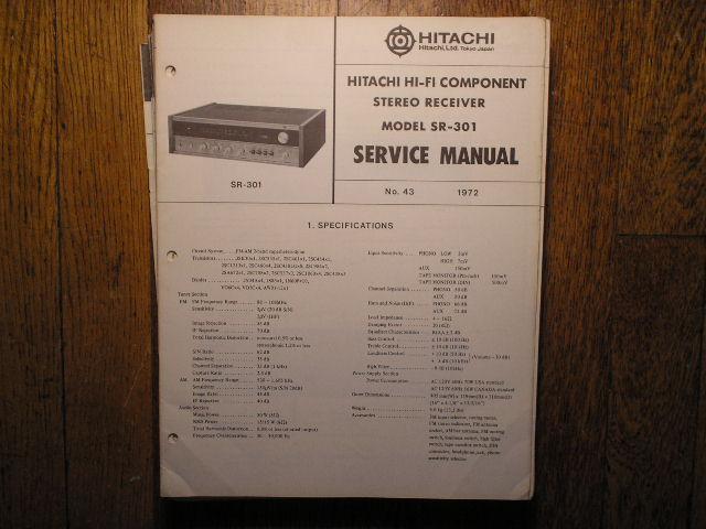 SR-301 Receiver Service Manual