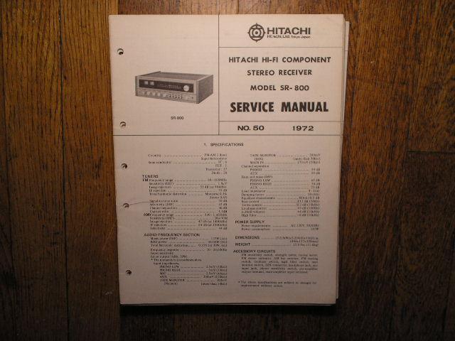 SR-800 Receiver Service Manual