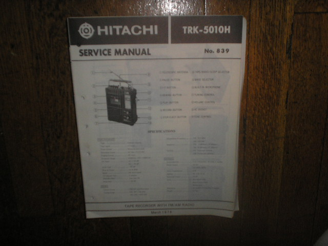 TRK-5010H  CASSETTE RADIO Service Manual