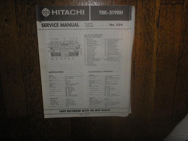 TRK-5190H CASSETTE RADIO Service Manual