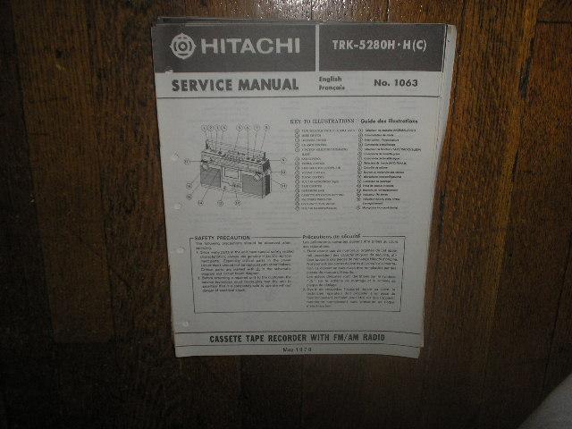 TRK-5280H TRK-5280HC CASSETTE RADIO Service Manual