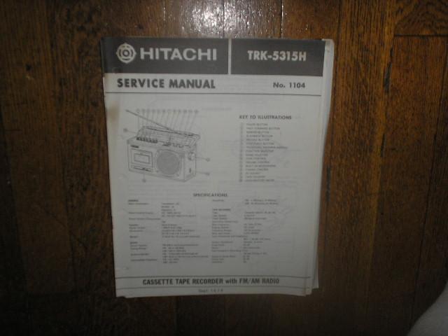TRK-5315H CASSETTE RADIO Service Manual