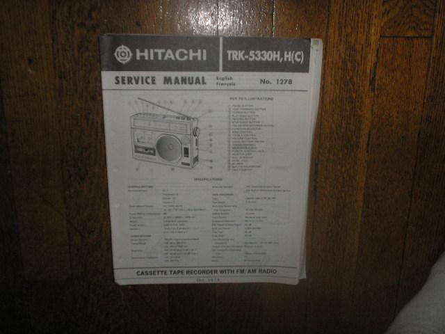 TRK-5330H TRK-5330HC CASSETTE RADIO Service Manual