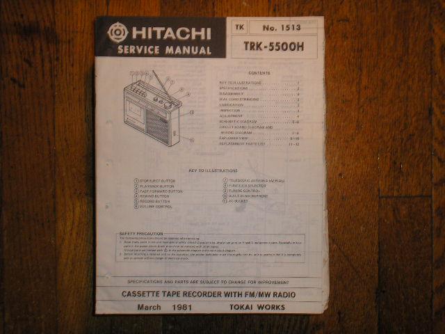 TRK-5500H CASSETTE RADIO Service Manual