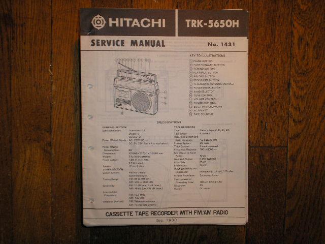 TRK-5650H CASSETTE RADIO Service Manual