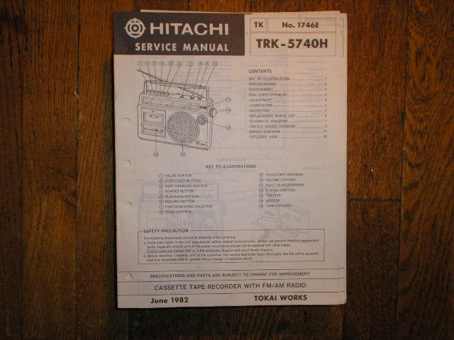 TRK-5740H CASSETTE RADIO Service Manual