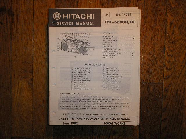 TRK-6600H TRK-6600HC  CASSETTE RADIO Service Manual