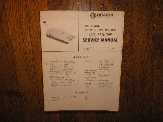 TRQ-240 Cassette Tape Recorder Service Manual