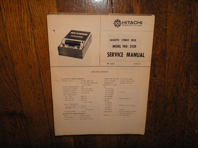 TRQ-252D Cassette Tape Recorder Service Manual