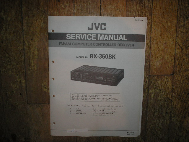 RX-350BK Receiver Service  Manual  JVC