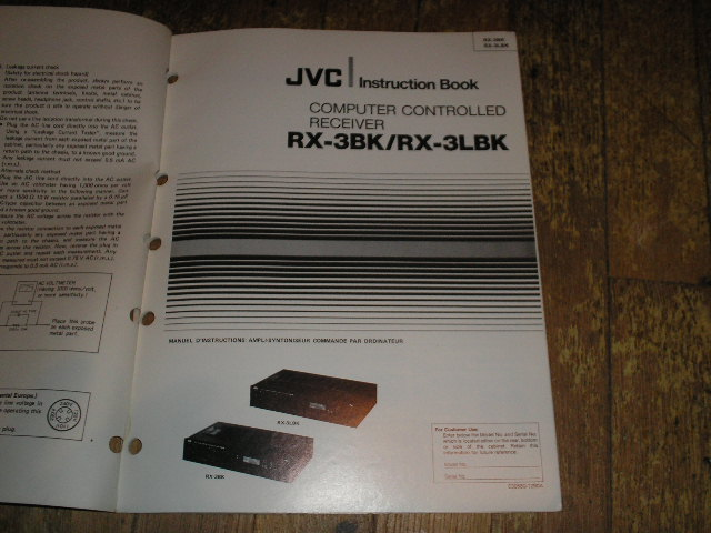 RX-3BK RX-3LBK Receiver Operating Instruction Manual
