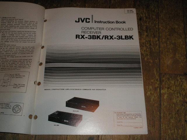 RX-3BK RX-3LBK Receiver Operating Instruction Manual