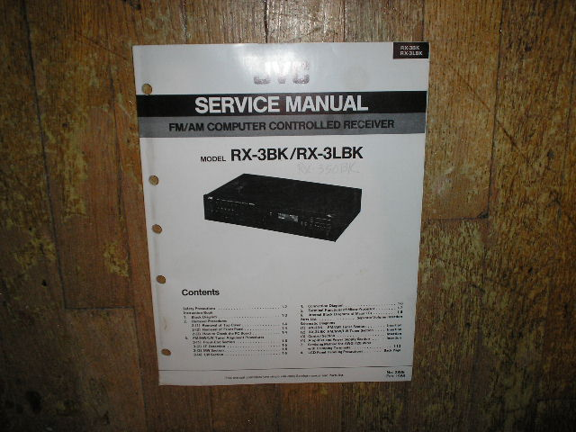 RX-3BK RX-3LBK Receiver Service  Manual  JVC