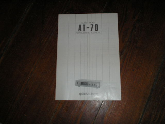 AT-70 Audio Timer Owners Manual