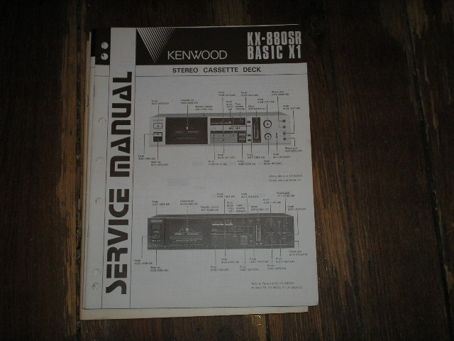 BASIC X1 KX-880SR Cassette Deck Service Manual
