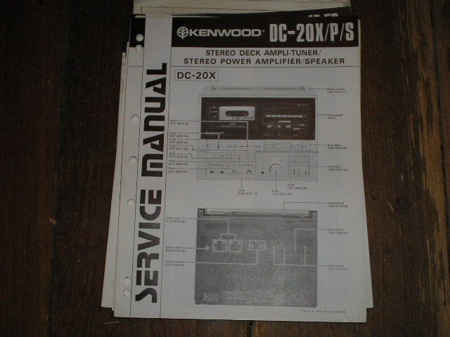 DC-20X DC-20P DC-20S STEREO SYSTEM  B51-1260...2200