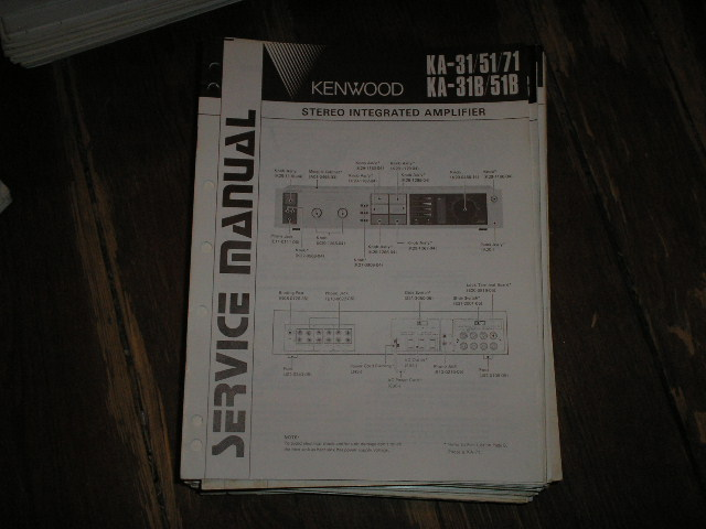 KA-31 KA-51 KA-71 KA-31B KA-51B Amplifier Service Manual