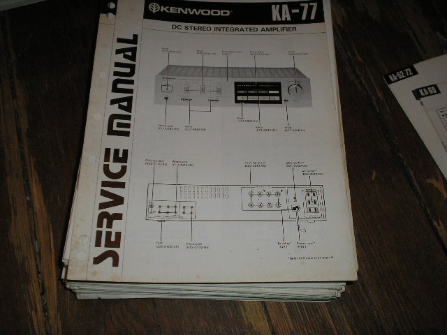 KA-77 Amplifier Service Manual