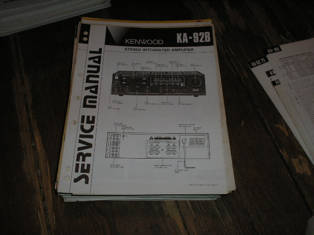 KA-92B Amplifier Service Manual  B51-1600...888