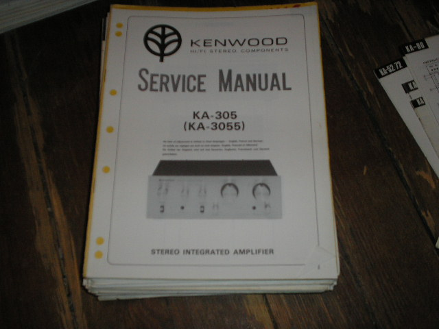 KA-305 KA-3055 Amplifier Service Manual