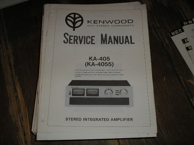 KA-405 KA-4055 Amplifier Service Manual