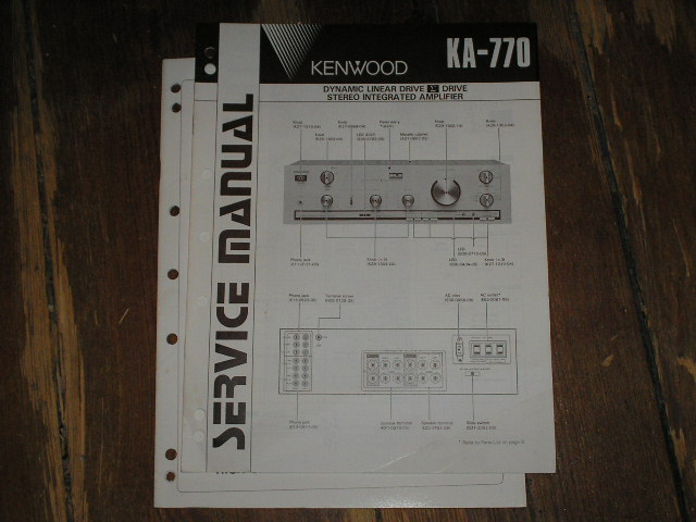 KA-770 Amplifier Service Manual