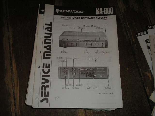 KA-800 Amplifier Service Manual