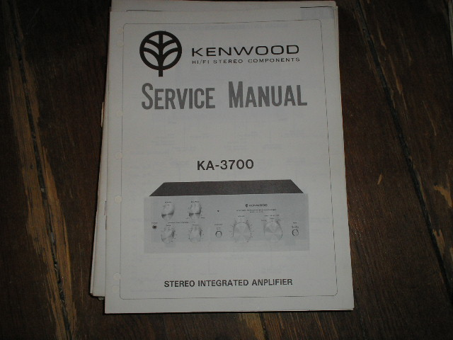 KA-3700 Amplifier Service Manual