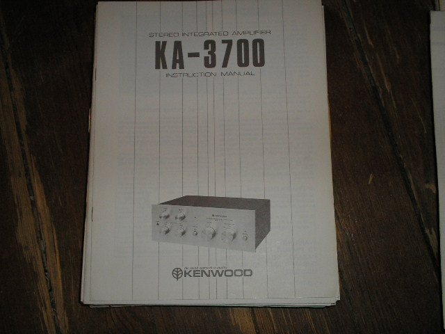 KA-3700 Amplifier Instuction Manual