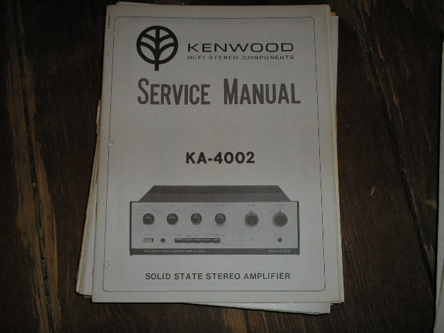 KA-4002 Amplifier Service Manual