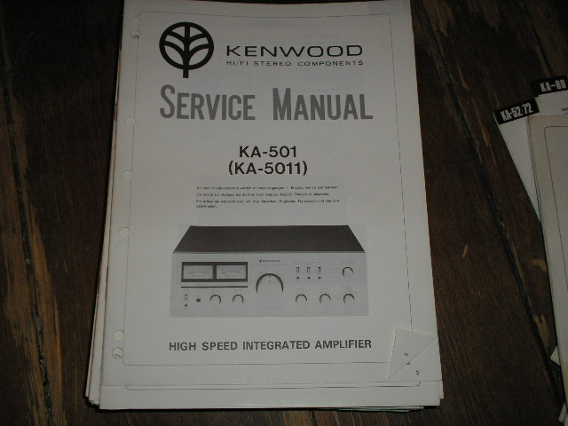 KA-5011 KA-501 Amplifier Service Manual