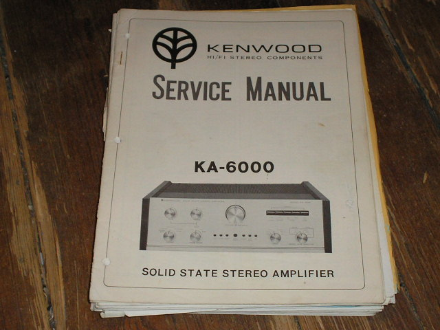 KA-6000 Amplifier Service Manual