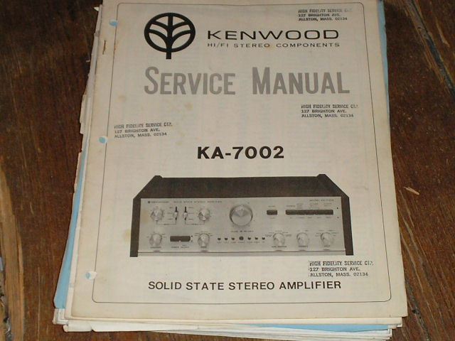 KA-7002 Amplifier Service Manual