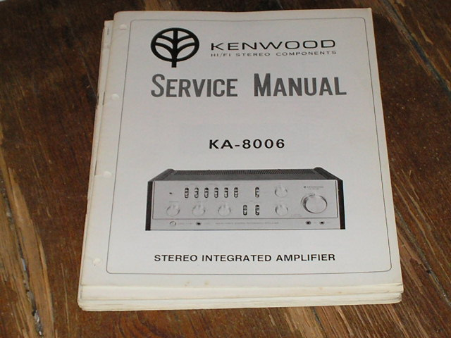 KA-8006 Amplifier Service Manual