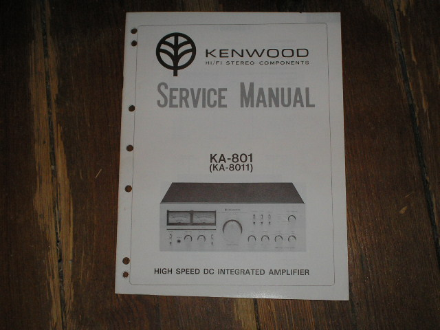 KA-8011 KA-801 Amplifier Service Manual